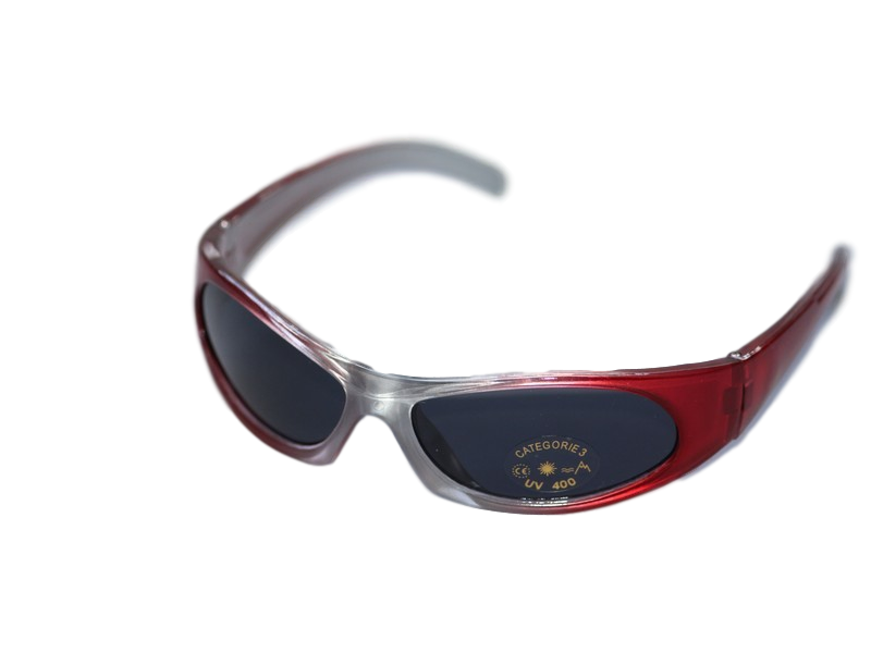 Red & Silver Kids Sport Sunglasses Aprox Age 5-10