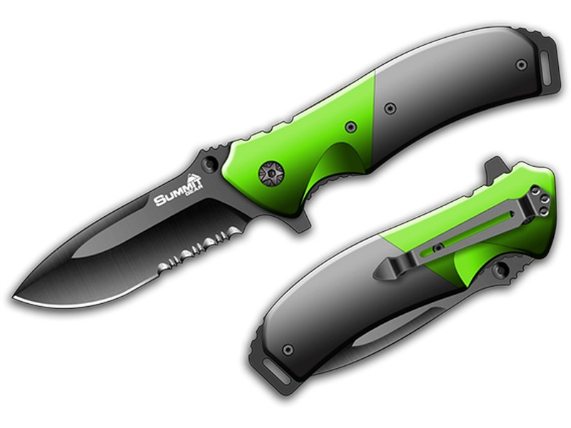 Summit Gear Pocket Knife Green/Grey