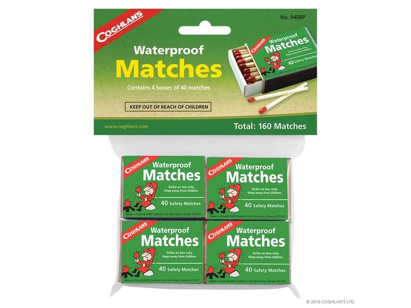 Coghlans Waterproof Matches 4pk