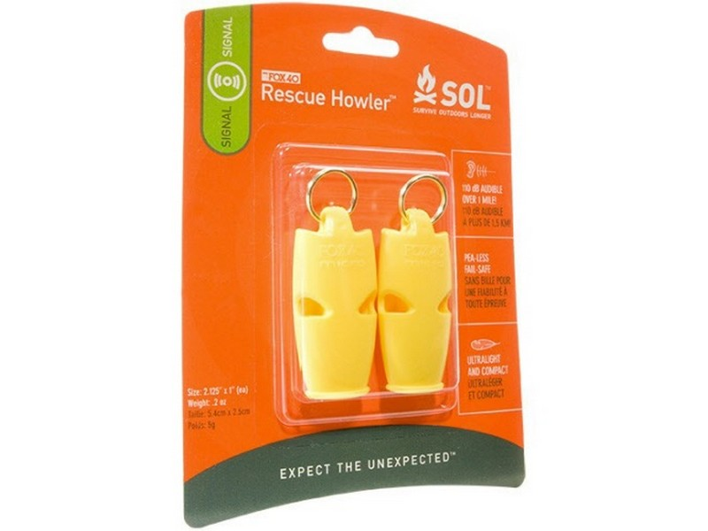 SOL Rescue Howler Whistles