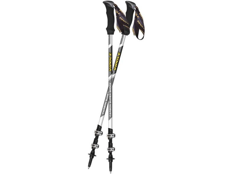 Vipole Carbon Trek Super Shock Walking Poles