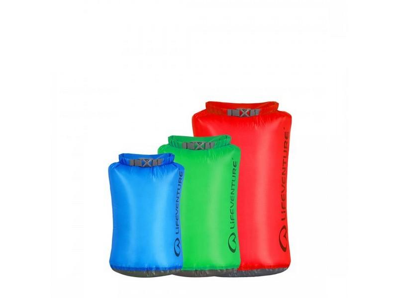 LifeVenture Ultralight Dry Bag 3 Pack