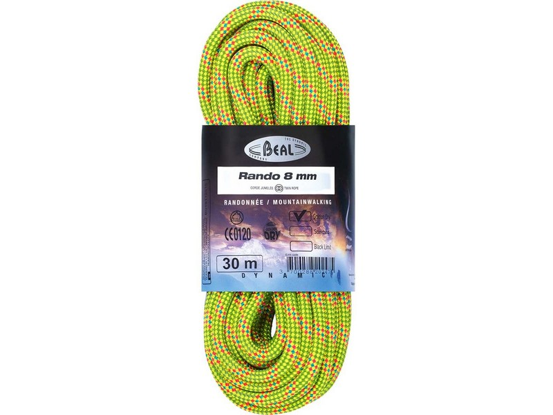 Beal Rando Golden Dry Trekking Rope 8mm X 30m