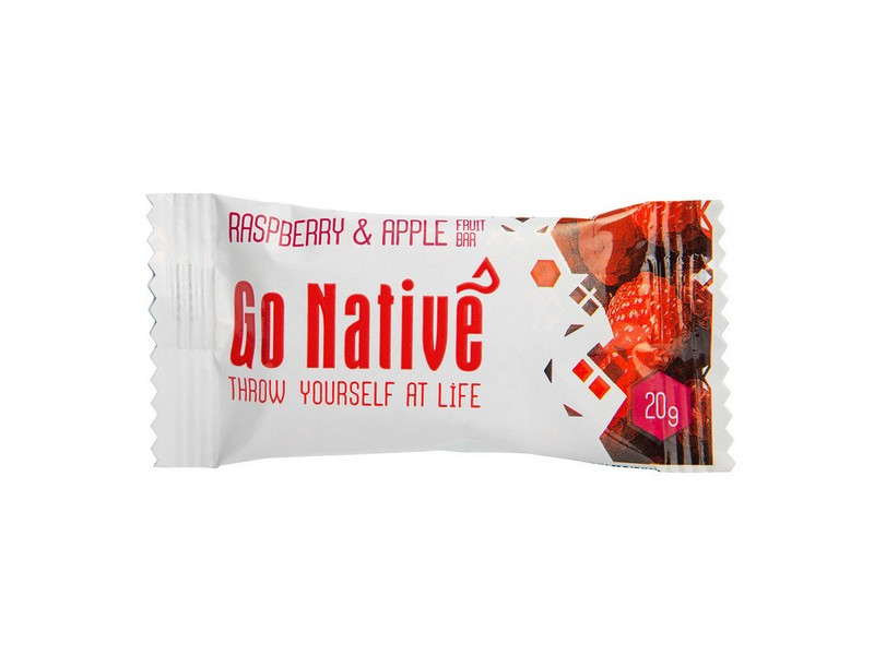 Go Native Raspberry & Apple Fruit Bar 20g