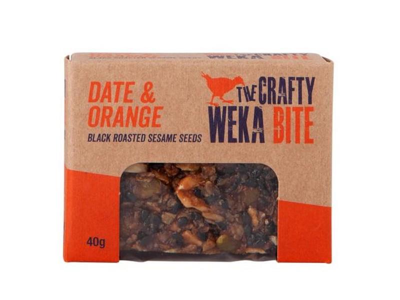 Crafty Weka Bar – Date And Orange 40g