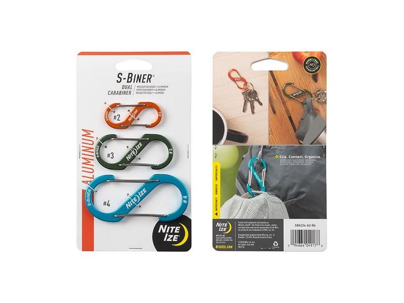 Nite-Ize S-Biner Dual Carabiner 3 Pack